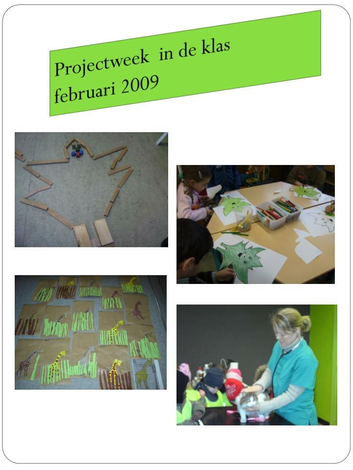 Projectweek  in de klas