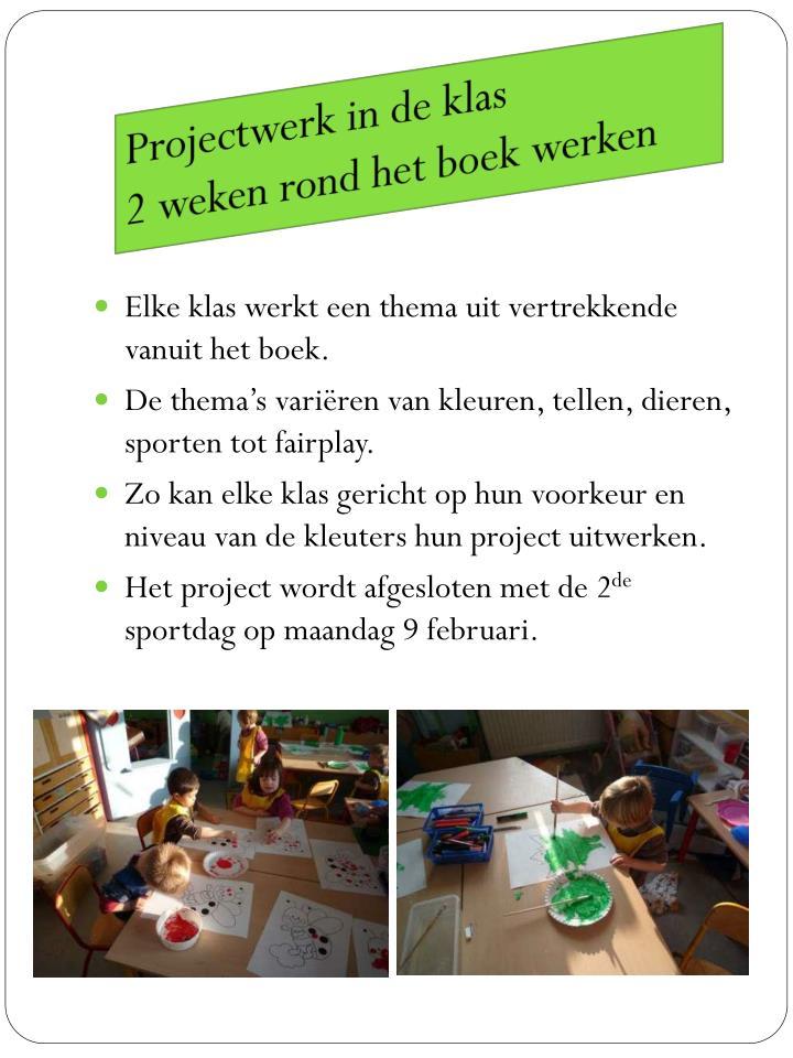 Projectwerk in de klas