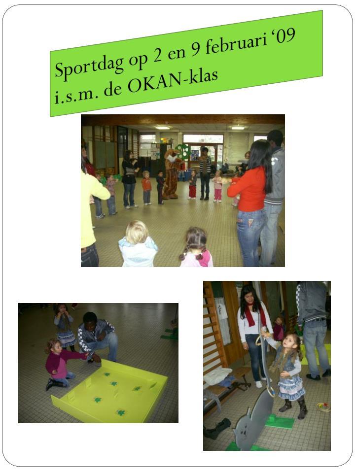 Sportdag op 2 en 9 februari '09