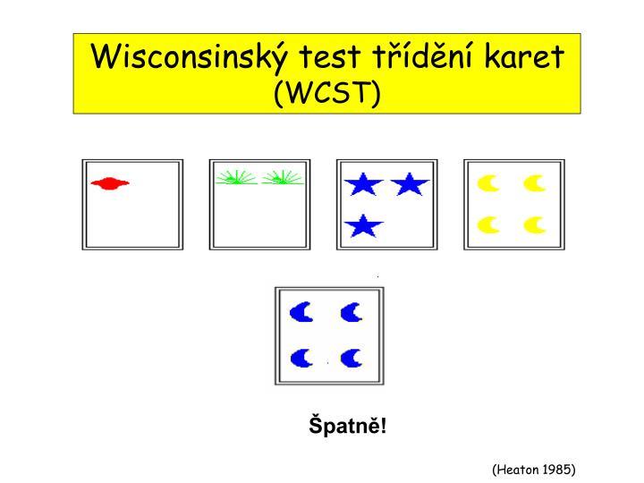 Wisconsinský test třídění karet
