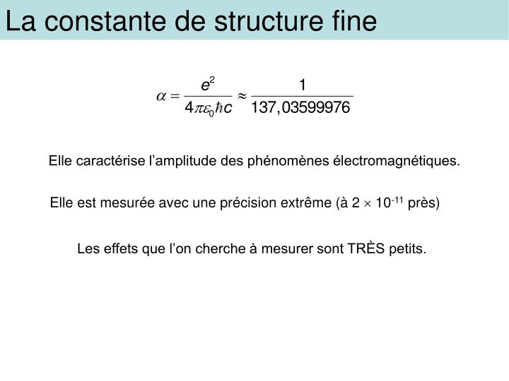 La constante de structure fine