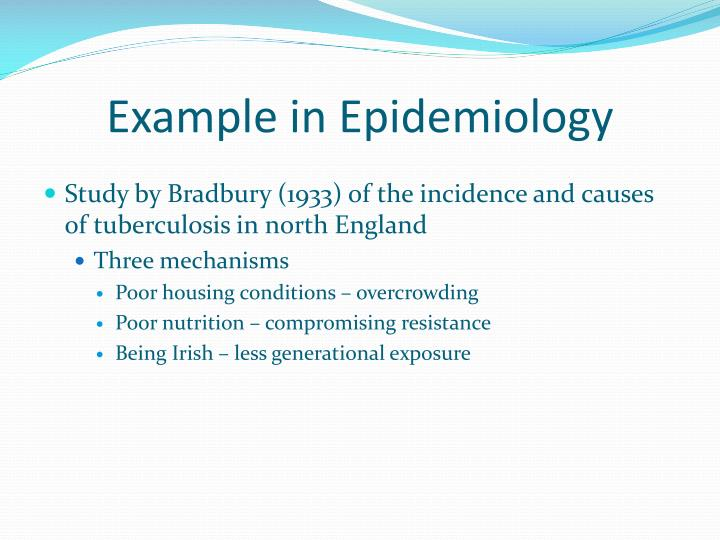 Example in Epidemiology