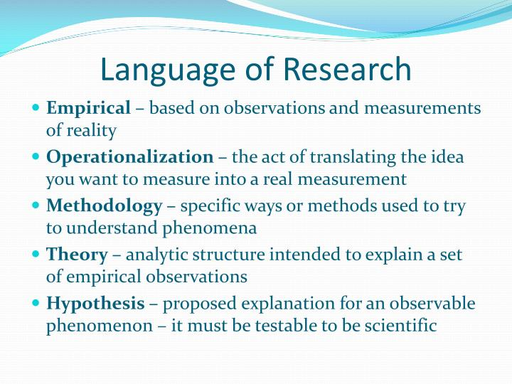 Language of Research