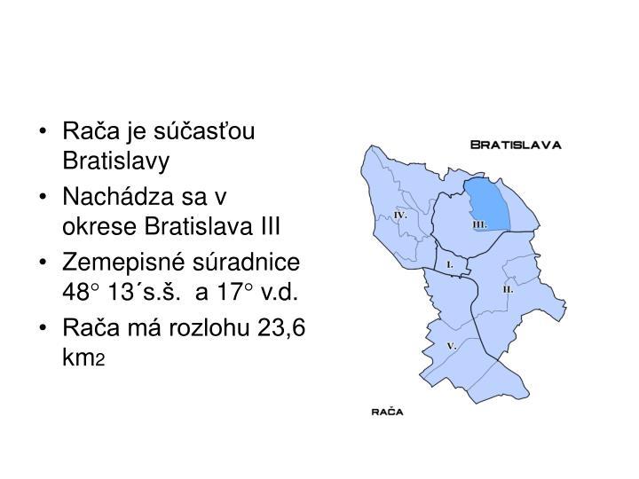Rača je súčasťou Bratislavy