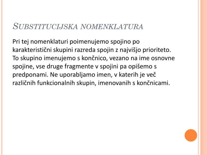 Substitucijska nomenklatura