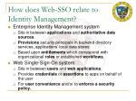 how does web sso relate to identity management