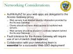 networking considerations
