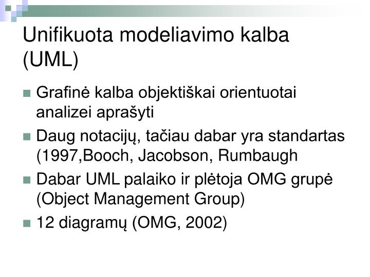 Unifikuota modeliavimo kalba (UML)