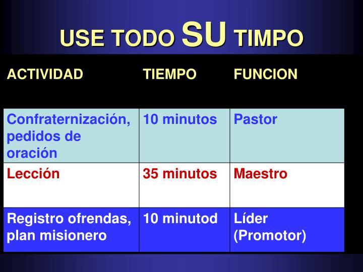 USE TODO