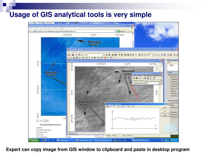 Usage of GIS analytical tools is very simple