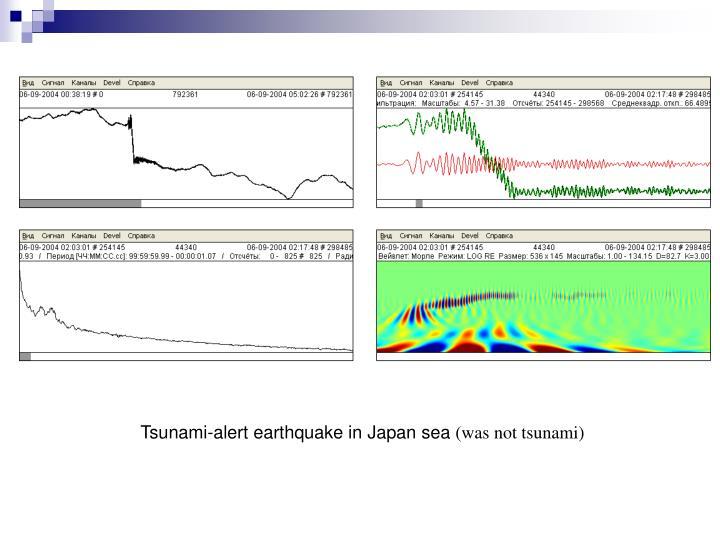 Tsunami-alert earthquake in Japan sea