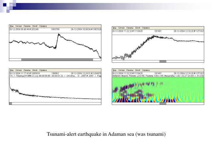 Tsunami-alert earthquake in Adaman sea