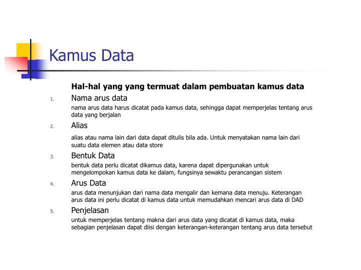 Kamus Data