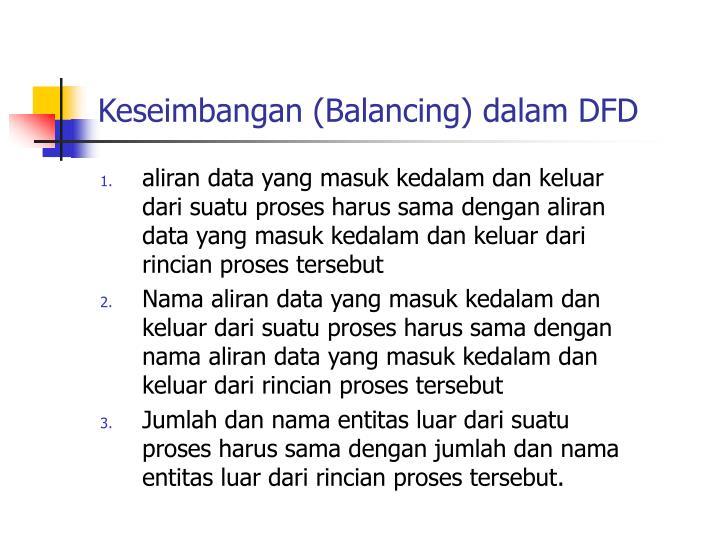 Keseimbangan (Balancing) dalam DFD