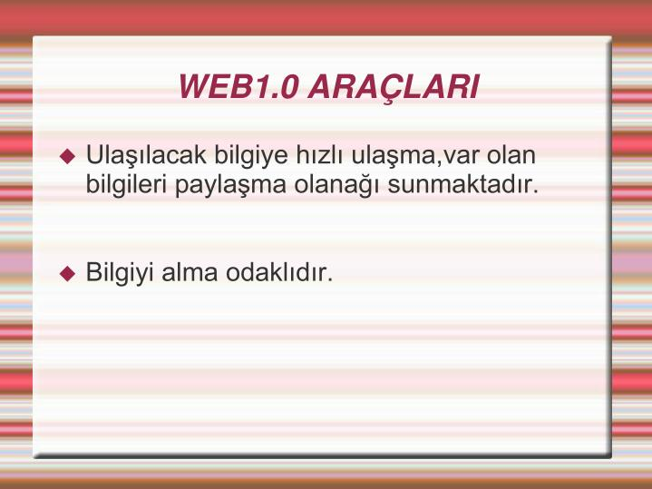 WEB1.0 ARALARI