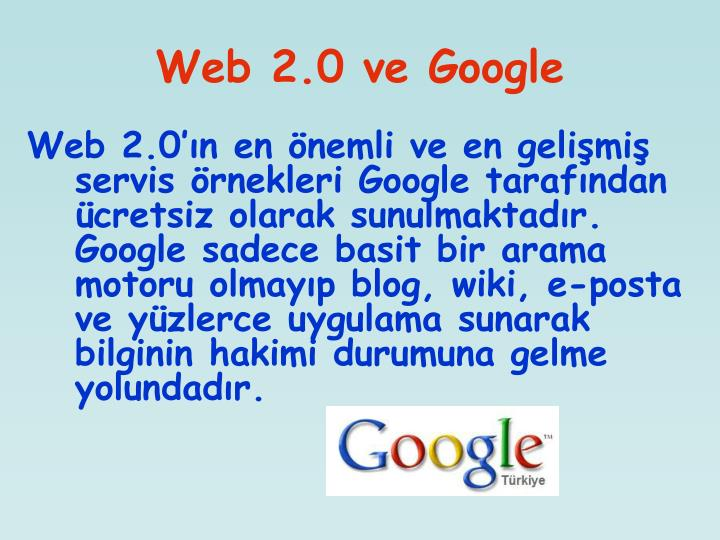 Web 2.0 ve Google