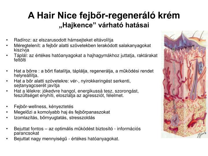 A Hair Nice fejbőr-regeneráló krém