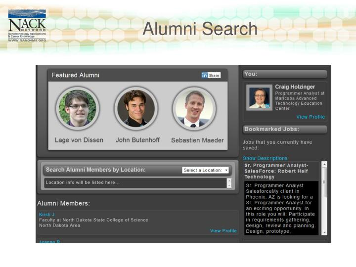 Alumni Search
