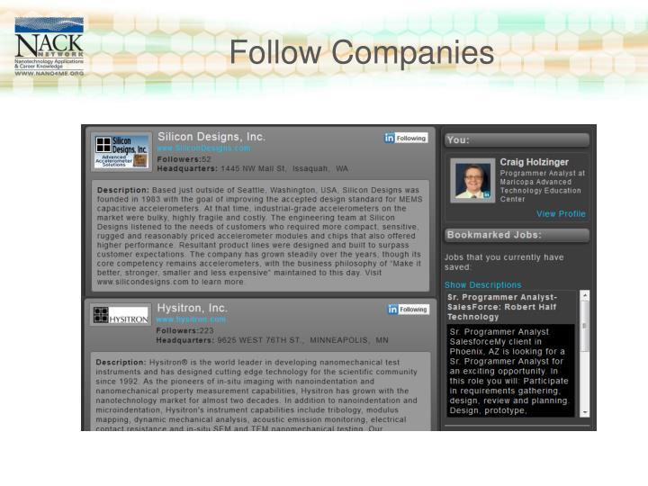 Follow Companies