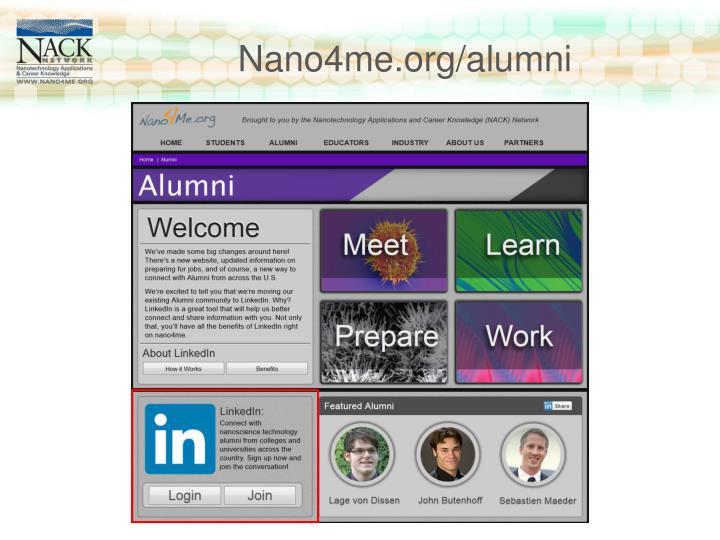 Nano4me.org/alumni