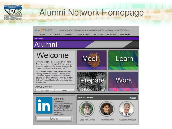 Alumni Network Homepage