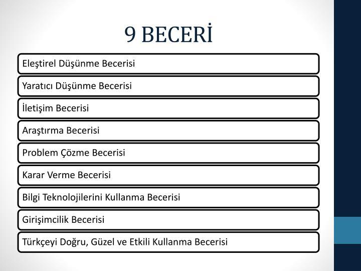 9 BECERİ
