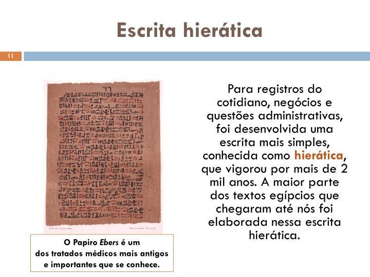 Escrita hierática