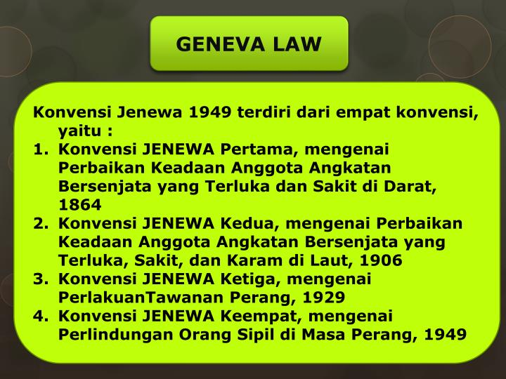 GENEVA LAW