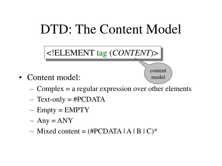 DTD: The Content Model