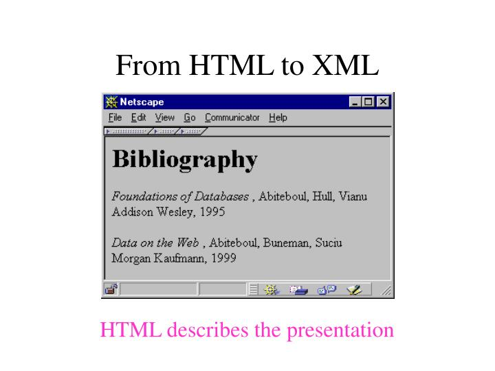 From HTML to XML