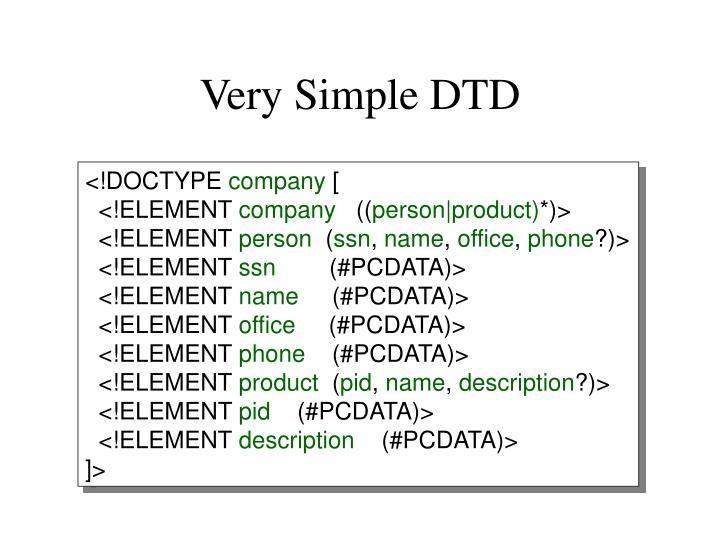 Very Simple DTD