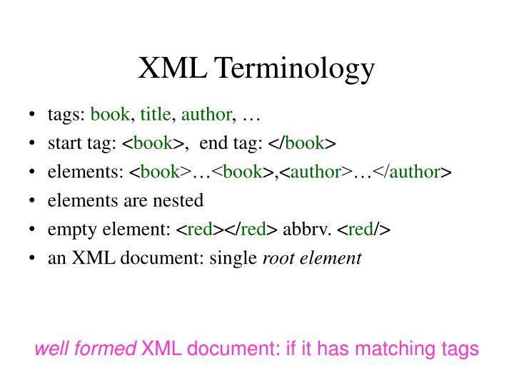 XML Terminology