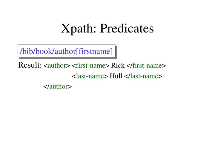 Xpath: Predicates