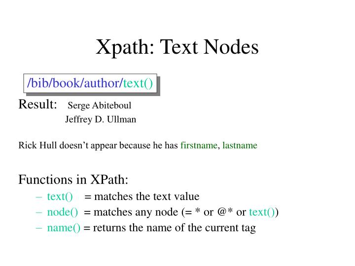 Xpath: Text Nodes