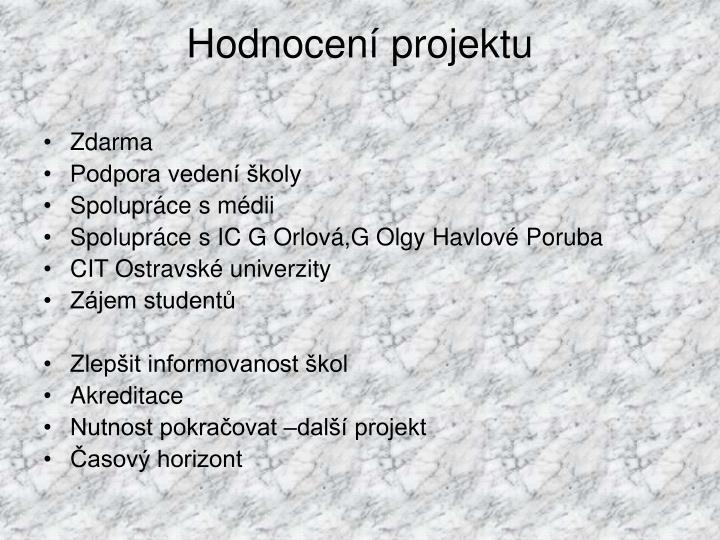 Hodnocení projektu