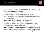 text formatting problems