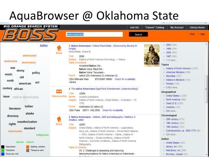 AquaBrowser @ Oklahoma State