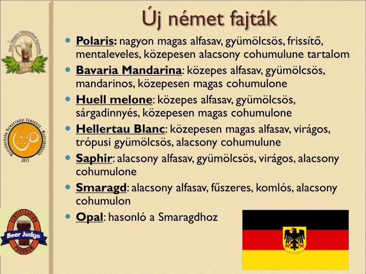 Új német fajták