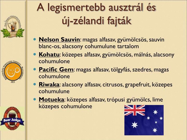 A legismertebb ausztrál és új-zélandi fajták