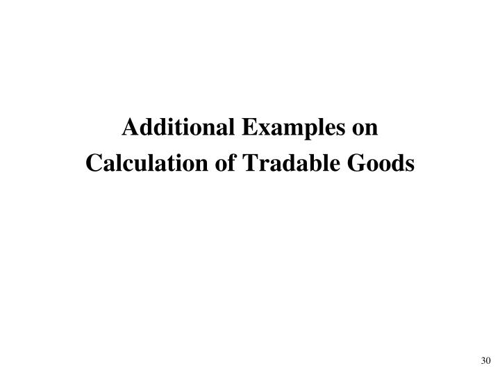 Additional Examples on