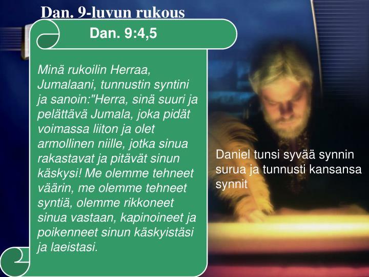 Dan. 9-luvun rukous