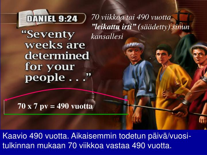 70 viikkoa tai 490 vuotta