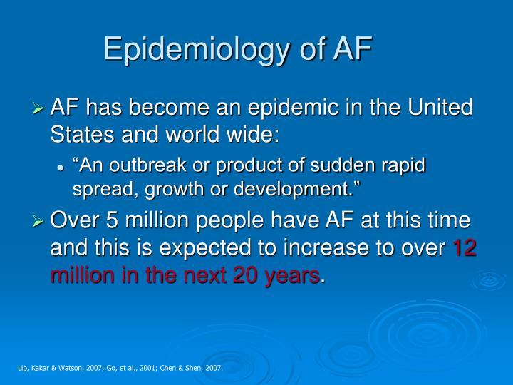 Epidemiology of AF