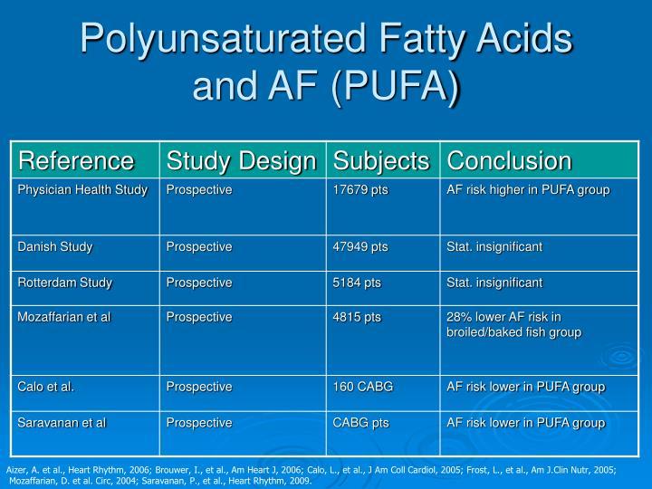 Polyunsaturated Fatty Acids