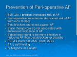 prevention of peri operative af