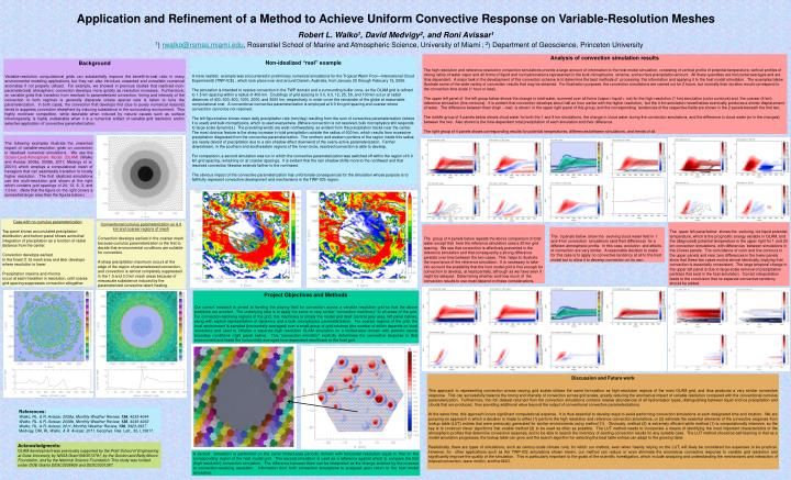 Application and Refinement of a Method to Achieve Uniform Convective Response on Variable-Resolution...
