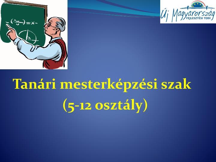 Tanári mesterképzési szak
