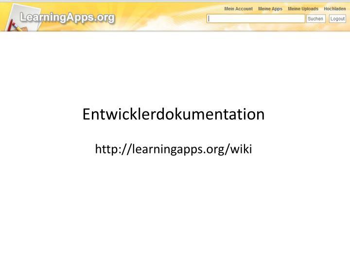 Entwicklerdokumentation