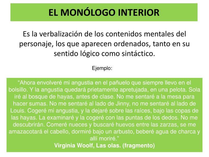 EL MONÓLOGO INTERIOR