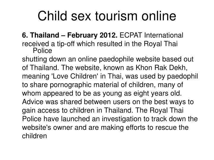 Child sex tourism online